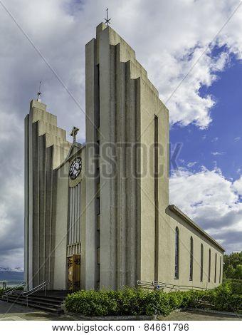 The Church In Akureyri