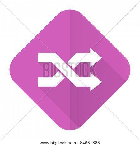aleatory pink flat icon