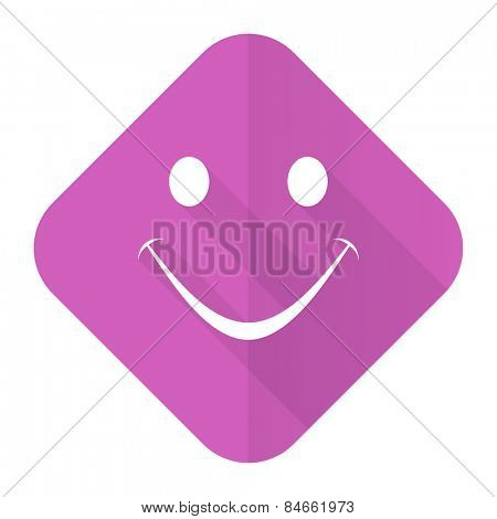 smile pink flat icon