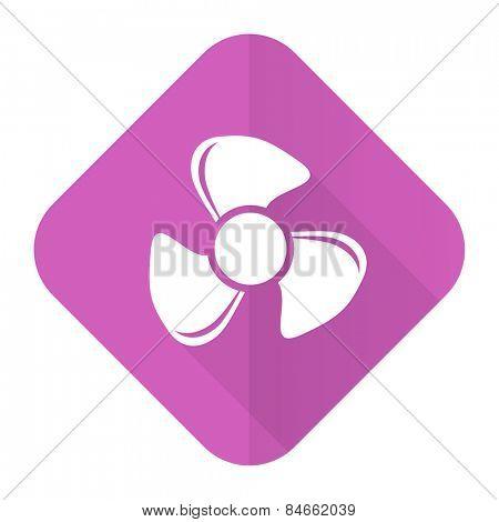 fan pink flat icon