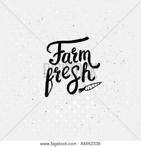 Black Text Style for Farm Fresh Concept