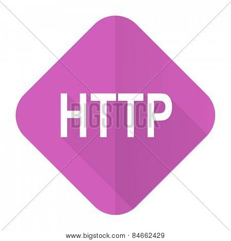 http pink flat icon