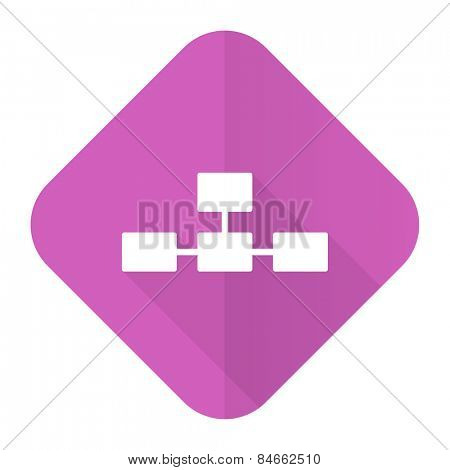 database pink flat icon
