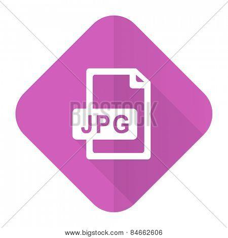 jpg file pink flat icon
