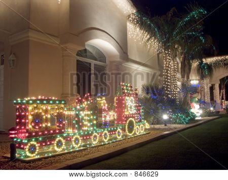 Southwestern Christmas Decorated House