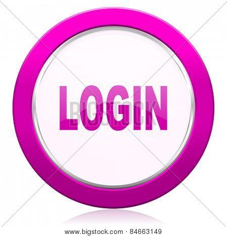 login violet icon