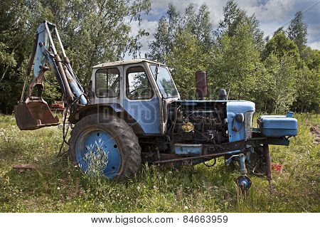 Abandoned Wheeled Tractor