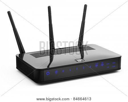 Modern router isolated on white
