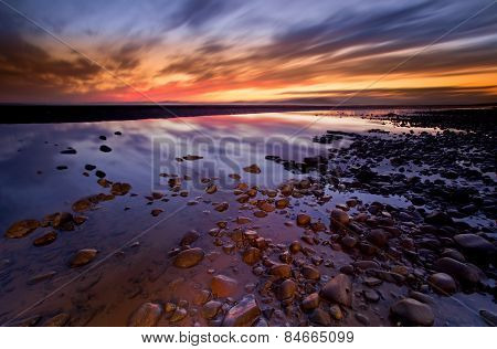 Allonby sunset