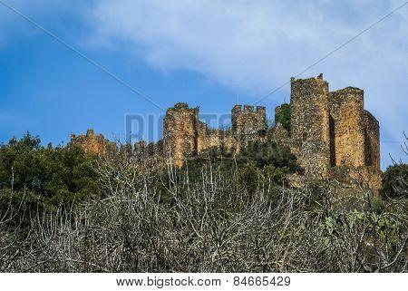 Ruins Of A Castle At Salvatiera De Los Barros