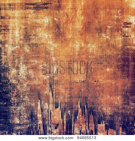 Old texture as abstract grunge background. With different color patterns: yellow (beige); brown; purple (violet); red (orange)