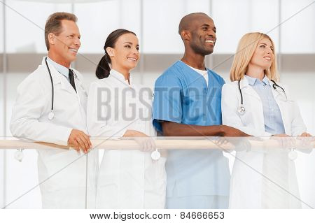 Confident Team Of Medical Experts.