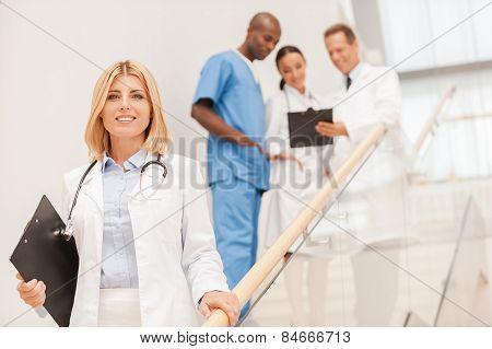 Confident Female Doctor.
