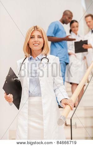 Confident Medical Expert.