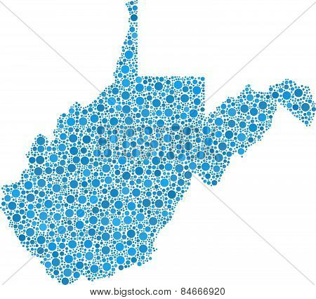 Isolated map of West Virginia