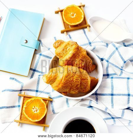 Fresh Baked Tasty Croissant For Breakfast