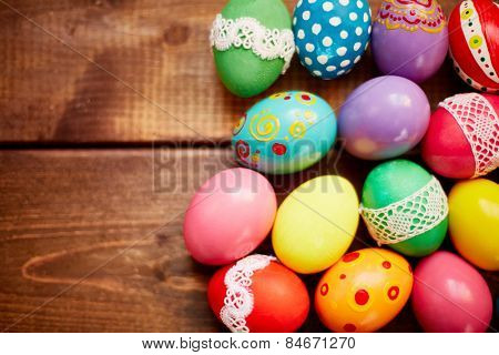 Creative Easter eggs with various decorations