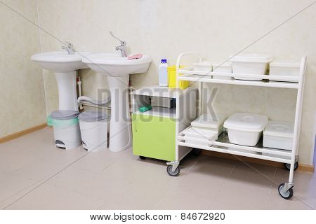 The image of medical trolley