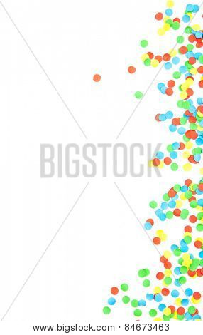 Confetti background texture. All on white