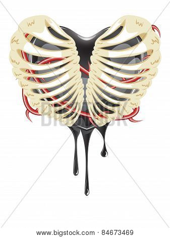 Black Heart In Thorax