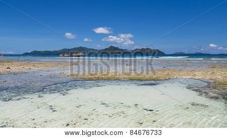 Cumulus Clouds Over The Seychelles