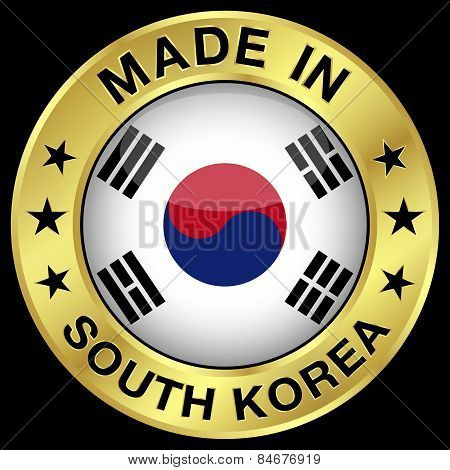 South Korea Made In Badge