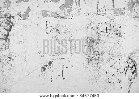 Street aged cement old wrecked rusty rough grunge wall texture background black and white
