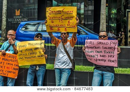 Grand Millennium hotel (Kuala Lumpur) employees' protest