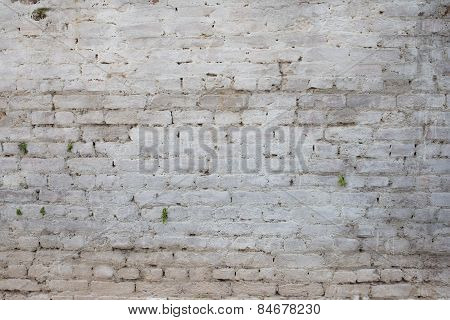 Old vintage grunge urban street rusty brickwall background texture.