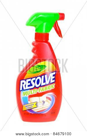 Hayward, CA - February 23, 2015: -22 Fl oz bottle of Resolve brand Multi-Fabric upholstery cleaner - Illustrative Editorial