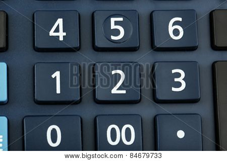 Macro view of calculator board
