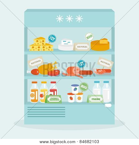 Food In Fridge Collection