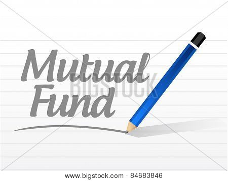 Mutual Fund Message Sign Illustration