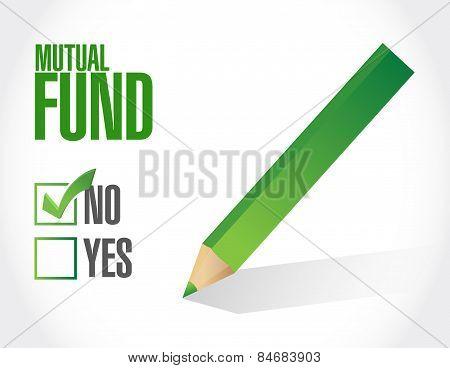 No Mutual Fund Check Mark Illustration