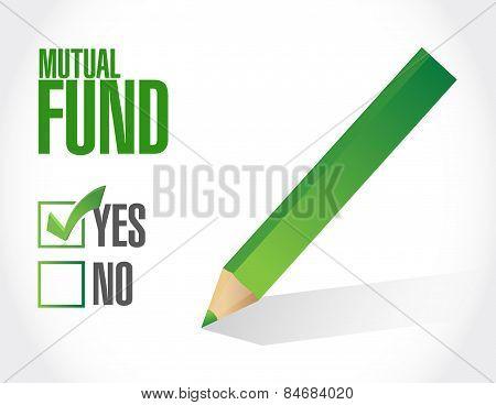 Mutual Fund Check Mark Illustration Design