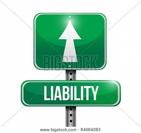 Liability Road Sign Illustration Design