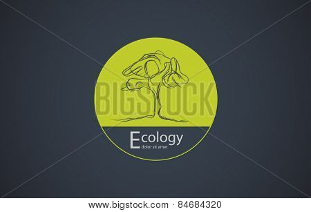 Circle Tree vector logo design