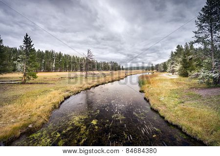 September Snow On The Yellowstone River