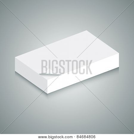 An image of of 3d stack of blank paper.