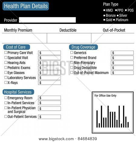 An image of a health plan details worksheet.