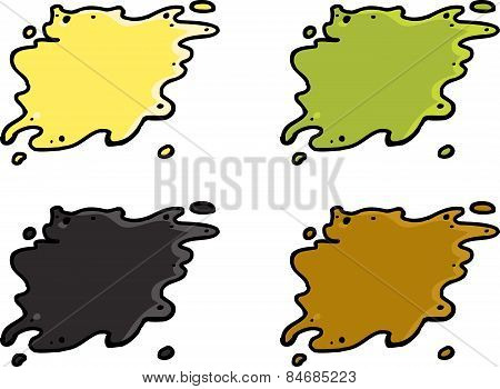Set Of Waste Spills