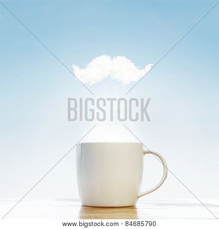 Coffee Cup With Hipster Mustache
