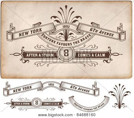 Retro label. Design elements. Vector