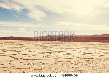 Salt desert in the Jujuy Province. Argentina