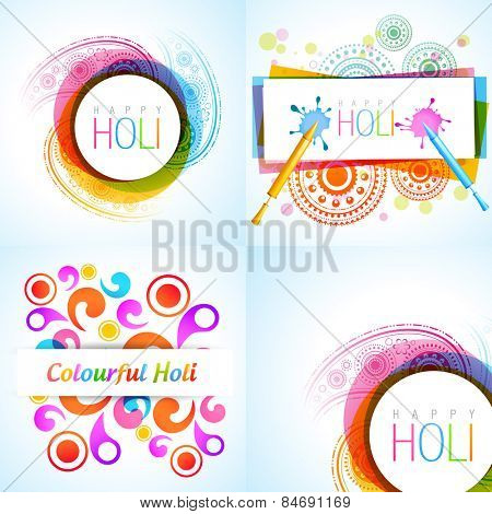 vector collection of holi background illustration