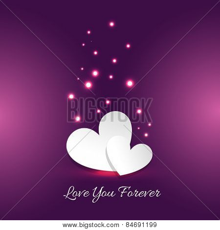 vector illustration of love you forever card with heart
