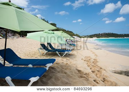 Beach Loungers At Baie Rouge