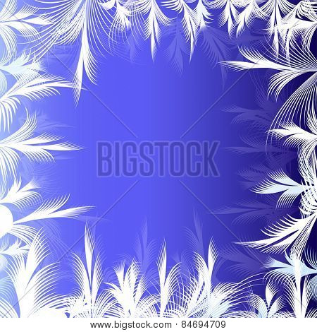 Winter ornamental frame background with copy space.