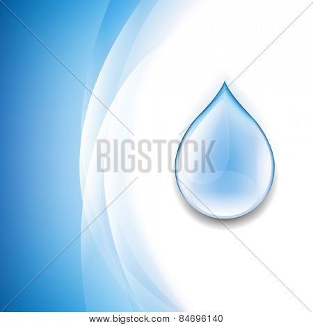 Water Drop Background With Gradient Mesh, Vector Illustration
