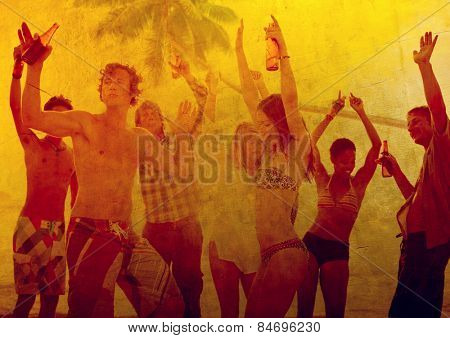 Young Adult Party Alcohol Fun Freedom Beach Summer